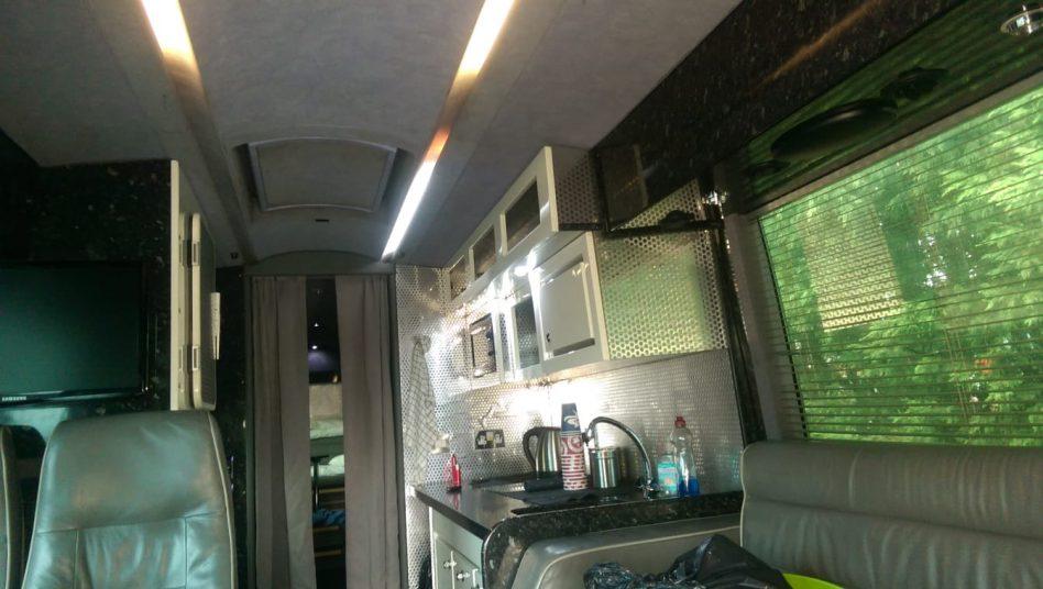 Converted bus motorhome